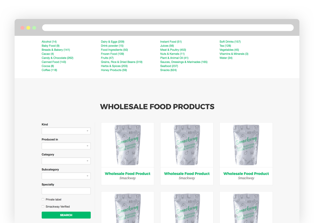 Product list screen