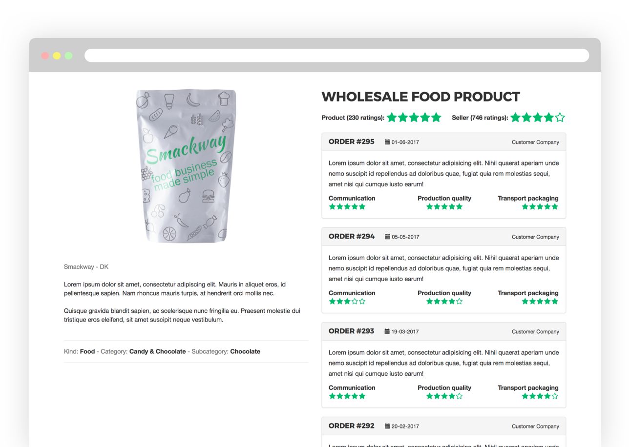 Product reviews screen